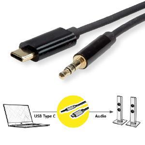 ROLINE USB Typ C Kabel mit 3,5mm Klinkenstecker