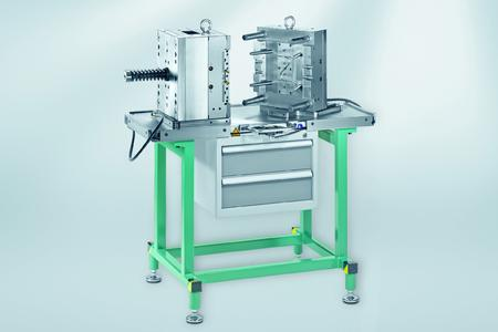 The air-cushioned assembly table by Meusburger offers definite advantages for tool and mould makers (Photo: Meusburger)