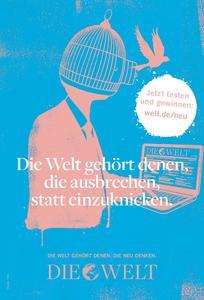 Plakatmotiv der WELT-Außenwerbekampagne