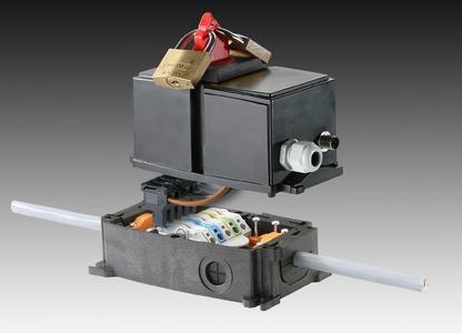 Weidmüller FieldPower® : PowerBox® On/Off schaltet einzelne Maschinen- oder Anlagenteile sowie Motorabgänge und Antriebszweige spannungsfrei.