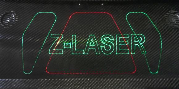 ZLP's laser projection on composite material/carbon