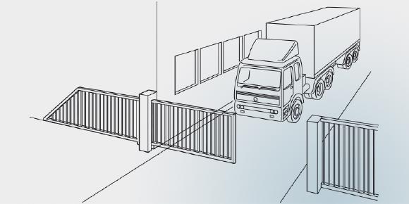 RFGate 3 Drahtloses Signalübertragungssystem für Sicherheitsschaltleisten und Schlupftüren an industriellen Toren