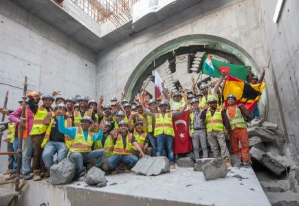 Completion of tunneling at Green Line / (C) Doha Metro