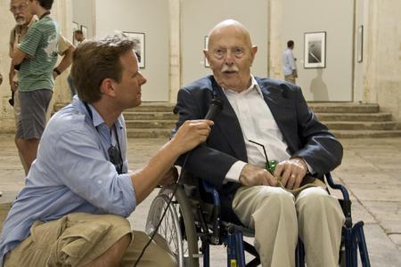 Interview FotoTV mit Willy Ronis. Foto:Dierk Clees