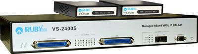 VDSL 24-Port Switch DSLAM mit Modems