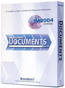 """ReadSoft DOCUMENTS erhielt die Empfehlung der Information Management 2004 Awards Jury in der Kategorie """"Document Management Product"""" als spannendstes und innovativstes neues Produkt."""
