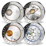 """Eines von zahlreichen faszinierenden Weltraum-Angeboten des Bayerischen Münzkontors - das Sonderset """"Planeten des Sonnensystems"""", Bild: Bayerisches Münzkontor"""