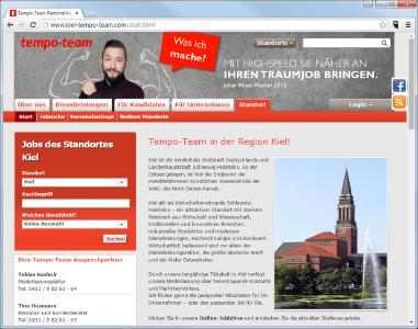 Tempo-Team Kiel: Personalberatung, Personalvermittlung und Zeitarbeit an der Ostsee