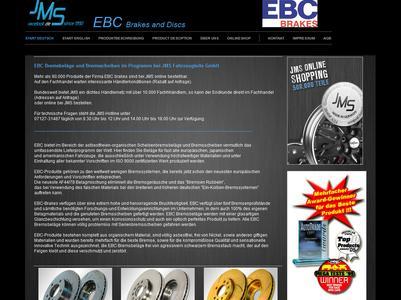 JMS Imageseite für EBC Bremsscheiben & Bremsbeläge