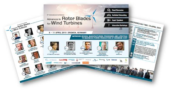 Front Page - 8th Advances in Rotor Blades for Wind Turbines International Conference