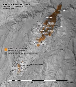 Skeena durchschneidet 5,29 g/t AuEq über 56,34 Meter In Zone 22 durch Infill-Bohrungen auf Eskay Creek