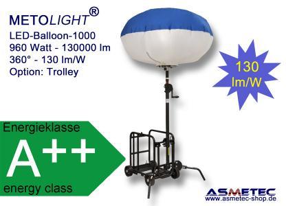 LED Ballon-Leuchte mit Trolley