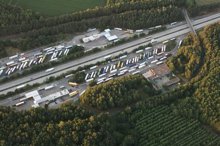 Truckstop Luftbild