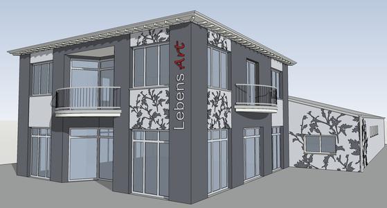 Brillux Farbstudios bieten 3D-Visualisierung für Innen- und Außenbereich