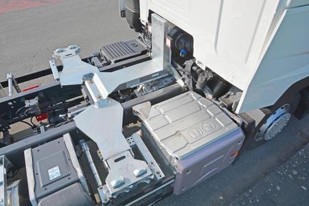 Die vordere Höhenverstellung in niedrigster Position 0 mm (Foto: © Renault Trucks, SDG Modultechnik)
