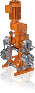 Prozesspumpe Zentriplex: hohe Leistung und hoher Wirkungsgrad bei minimaler Standfläche und geringem Gewicht.