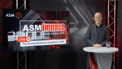 Moderiert wurde der Livestream von Laszlo Sereny, Head of Global Sales Learning Management, ASM Assembly Systems / Bildquelle: ASM