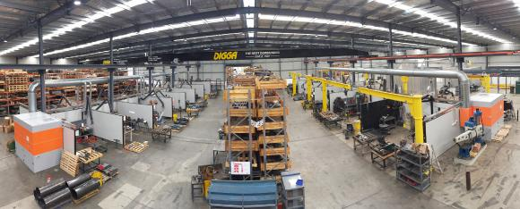 The production hall of DIGGA Australia with the KEMPER equipment