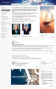 JaOffice - Beispiel einer Startseite, die mittels Social Intranet Software und deren Widgets selbst erstellt wurde.
