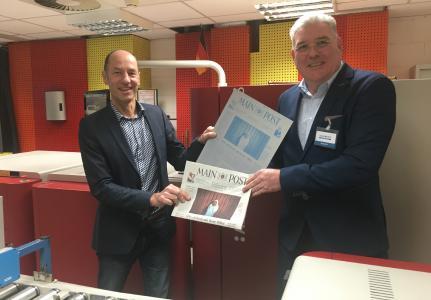 von links: Andreas Kunzemann, Mediengruppe Main-Post,  und Klaus Kowalczyk, Agfa NV