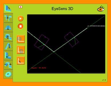EyeSens Angle, Screenshot des Webinterface