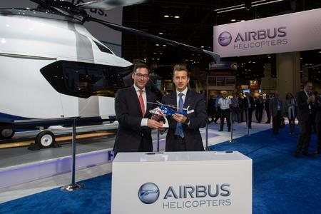 Left: Jonathan Baliff, President and CEO of Bristow Group; Right: Guillaume Faury, President and CEO  of Airbus Helicopters © Copyright Lorette Fabre - 2015