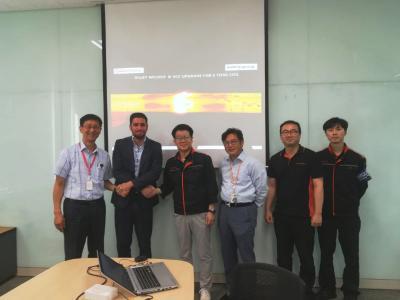 From left: Meoung-Jong Jeon, David Maurizio (both SMS group); Sang-Woo Kim, Byoung-Do Kim, Won-li Lee, Hyun-Min Kim (all DaehanSteel Co., Ltd.)