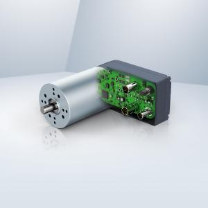 A BLDC internal rotor motor with integrated electronic module offers a standardized CANopen interface