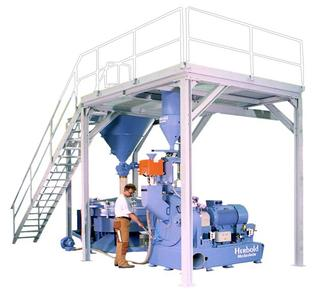Abb. 3: Herbold Feinmühle Typ PU 500 mit Siebmaschine