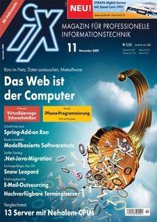 Titelbild der aktuellen iX-Ausgabe 11/2009