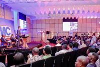 Nicolaus Müller hält seine Rede vor 100 Vertretern aus Politik, Industrie und Wissenschaft sowie mit Kunden und Partnern beim Festakt der MC Ghana in Accra