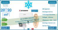 Mitsubishi Heavy Klimaanlage Wandgerät 2 x SRK 20 ZS-W + Außengerät SCM 40 ZS-W Set für 2 Zimmer mit je 20 m² Fläche