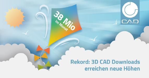 3D CAD Downloads weiter im Aufwind – CADENAS verzeichnet erstmals über 38 Mio. heruntergeladene CAD Modelle im Monat