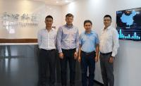 From left to right: Mr. Kelvin Pan (AuEase), Mr. Seth Ryding (Telenor Connexion) Mr. Lin Gonggeng (GongTian), Mr. Johnson Sun (AuEase)
