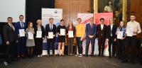 11 Preisträger von 7 Hochschulen der Region Koblenz und des zfh, Fotos: Timo M. Kessler
