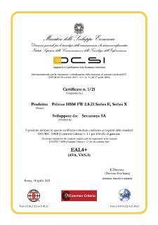 Securosys Primus HSM now Common Criteria EAL4+ certified