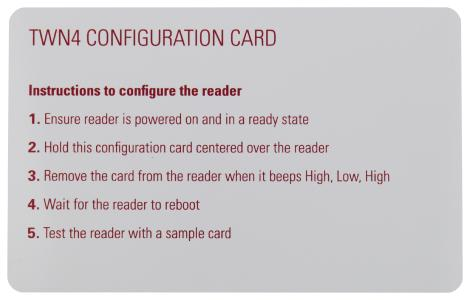 TWN4 Configuration Card