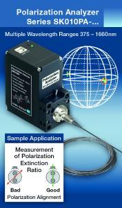 Polarization Analyzer for fiber optic and free beam applications