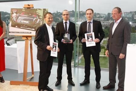 V.l.n.r. August Achleitner, Dr. Ing. h.c. F. Porsche AG; Jan Molitor, Wiesmann GmbH; Karl-Heinz Wrede, Chevrolet Deutschland mit sport-auto Chefredakteur Horst von Saurma