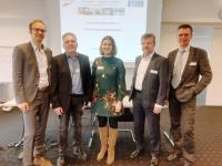 Dr. Volker Lammers, DIL; Jürgen Bez, Fraunhofer IVV; Jana Jansen, Food Professionals Köhnen; Prof. Hans-Jürgen Danneel, TH OWL; Norbert Reichl, FPI