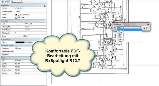 RxSpotlight R12.7 zeigt die detailgenaue, komfortable PDF-Bearbeitung
