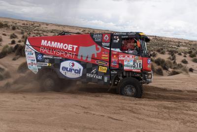 Der Renault Trucks K 520 des Mammoet Rallysport Teams von Pascal de Baar liegt momentan auf Platz 5 der Gesamtwertung bei der Rally Dakar 2017