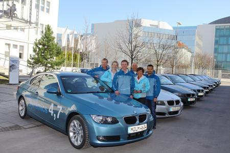 BMW Group Efficient Dynamics Rallye, Christoph Langen, Petra Behle, Alexander Resch, Christian Neureuther, Rosi Mittermaier und Georg Hackl