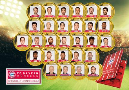 """Das Komplett-Set """"FC Bayern München Kader 2017/18"""