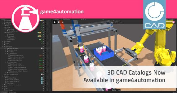 Digital twin and games technology - Integration of CADENAS manufacturer catalogs into Game4Automation
