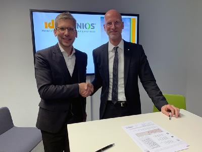 Dr. Jonas Danzeisen (CEO Venios GmbH) und Herr Jörn Fischer (Geschäftsführer IDS GmbH)