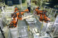 KUKA Roboter beim Schweißen