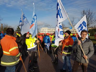 CGM beim Warnstreik der Ford-Werke in Saarlouis
