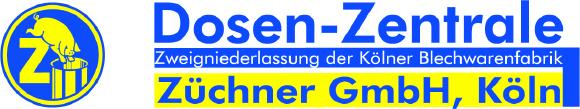 Logo der Dosen-Zentrale Züchner GmbH, Hilden, Großhändler für Blech-, Glas- und Kunststoffverpackungen.