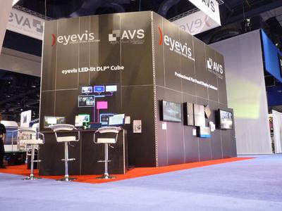 Back View: eyevis Stand at infoComm 2012